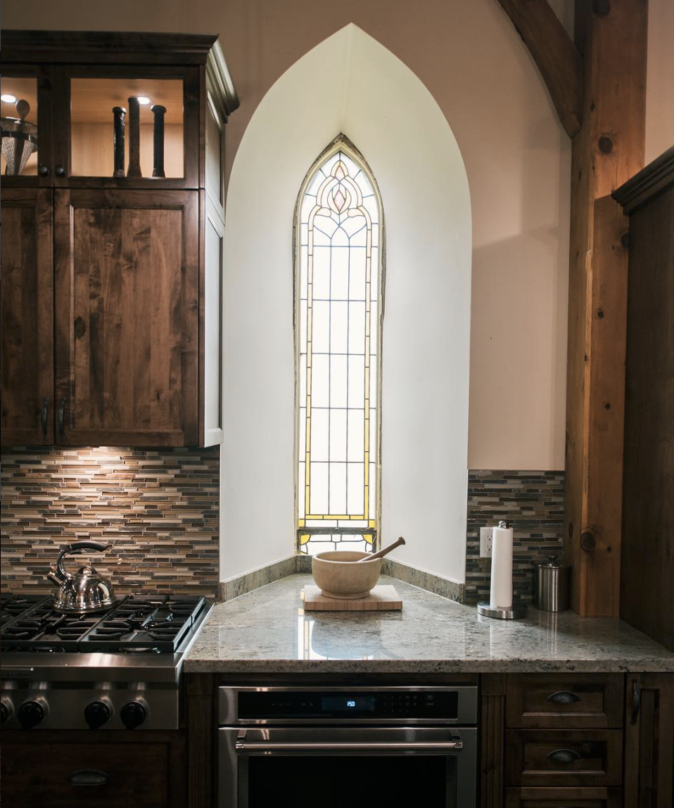 Cathedral styled kitchen and counter top